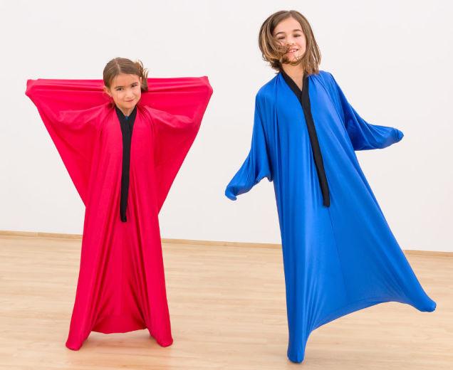 Lichaams danszak, rood, 155 x 70 cm