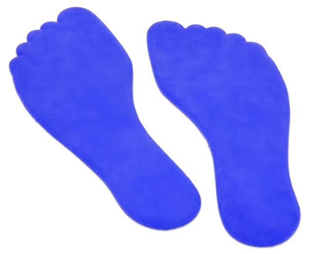 Anti slip voet 16 cm blauw, set van 2