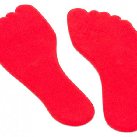 Anti slip voet 16 cm rood, set van 2