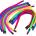 Touw Rainbow set 12/St.