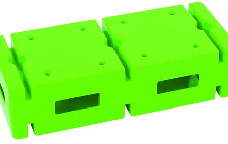 Baksteen, groen