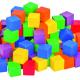 Houten gekleeurde blokken 2x2cm 100/St.
