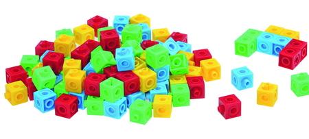 Connect kubussen 2 cm 5 kleuren 100/St.
