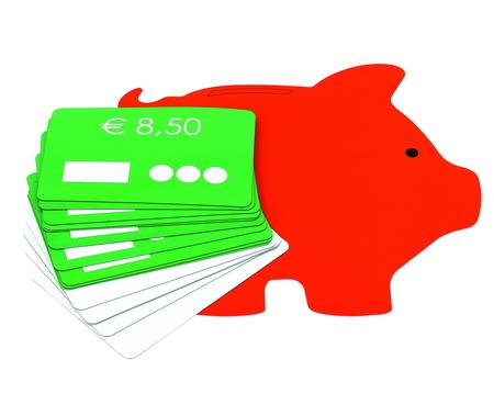 Afrekenen op het spaarvarken, met 10 werkkaarten (Eurobiljetten en munten niet inbegrepen)