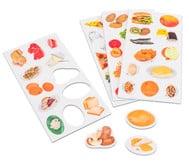 Voedselpiramide, 48 magnetische plaatjes voor voedselpiramide