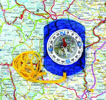 Kompas voor kaartlezen